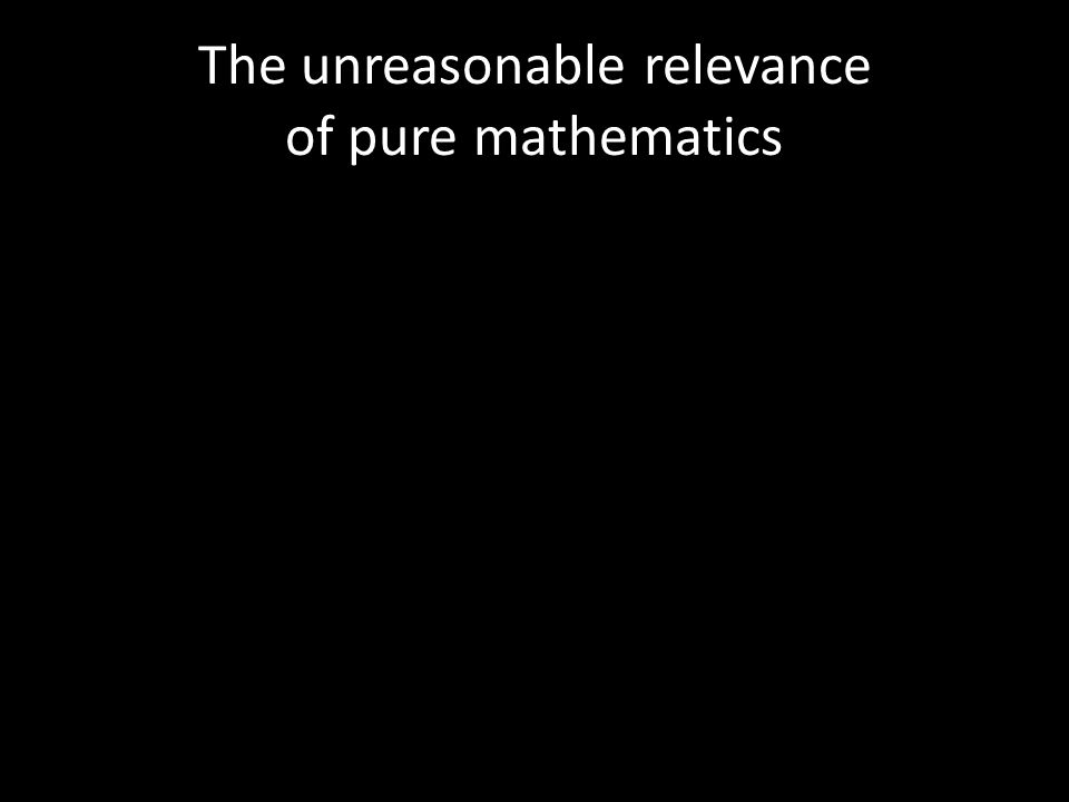 The unreasonable relevance of pure mathematics