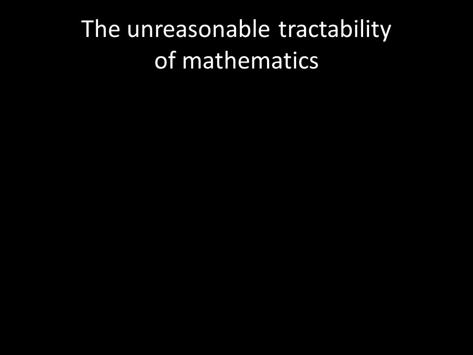 The unreasonable tractability of mathematics