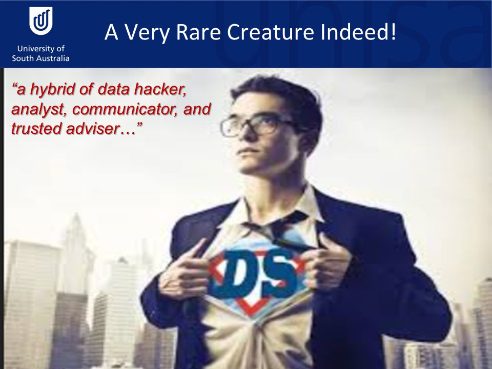 A Very Rare Creature Indeed! a hybrid of data hacker, analyst, communicator, and trusted adviser…