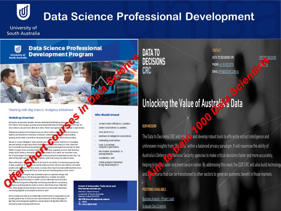 Data Science Professional Development Aim to train 1000 Data Scientists Offer Short courses in Data Science