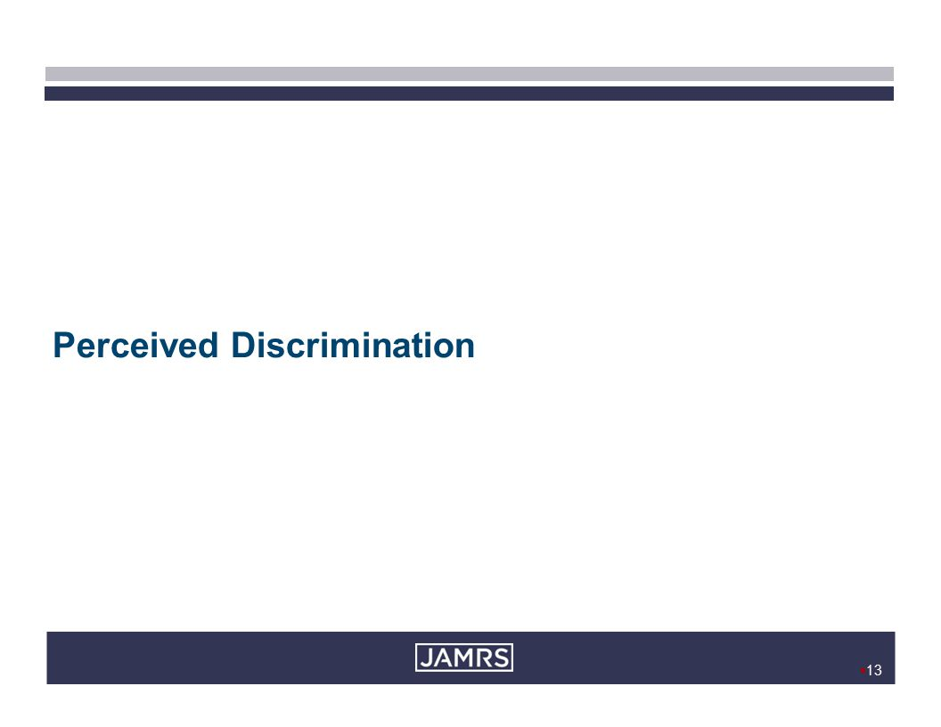  13 Perceived Discrimination