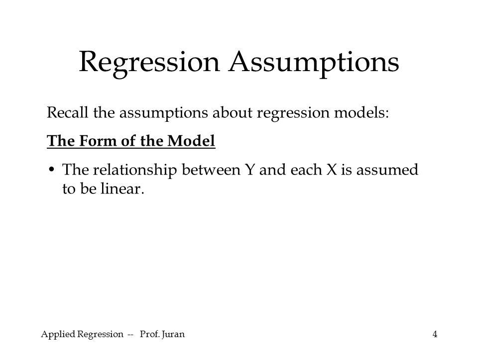Applied Regression -- Prof. Juran55