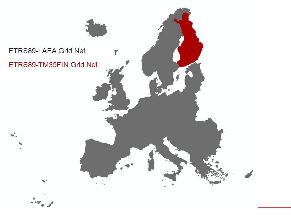 ETRS89-LAEA Grid Net ETRS89-TM35FIN Grid Net