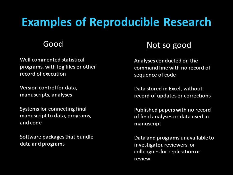 Examples of Reproducible Research (Teplin, Welty, Abram, Dulcan, & Washburn, 2012) (Cottle, Lee, & Heilbrun, 2001; McReynolds, Schwalbe, & Wasserman,