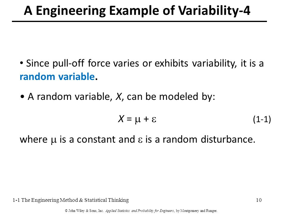 Since pull-off force varies or exhibits variability, it is a random variable.