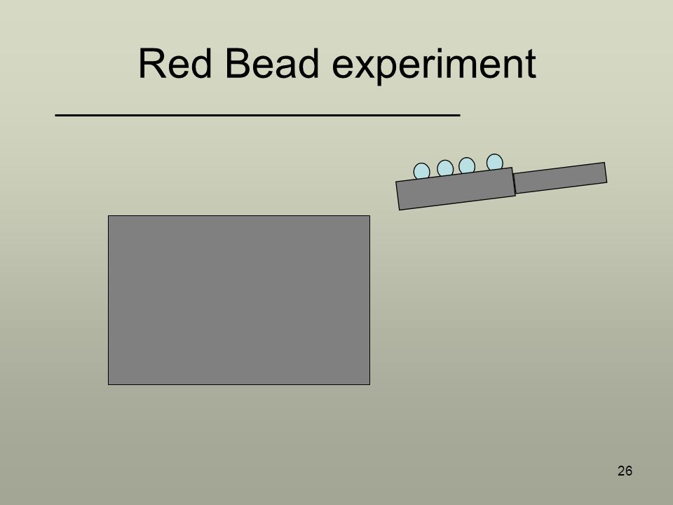 26 Red Bead experiment