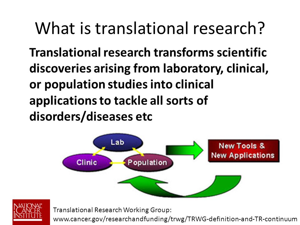 What is translational research.