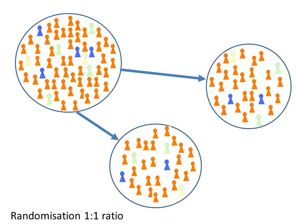 Randomisation 1:1 ratio