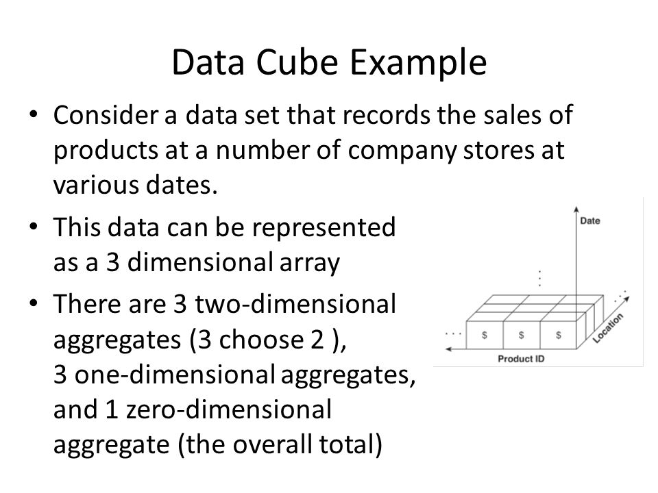 Consider a data set that records the sales of products at a number of company stores at various dates.