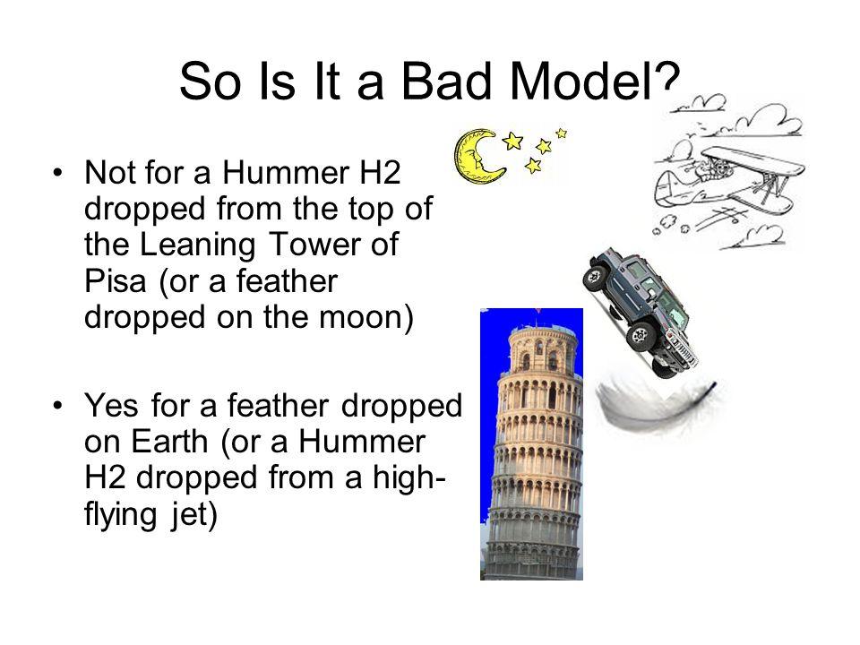 So Is It a Bad Model.