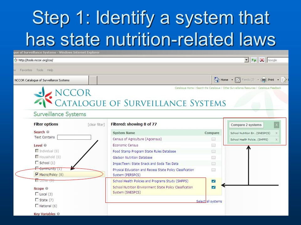 Step 2: Compare the systems