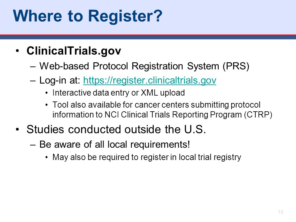 Where to Register.