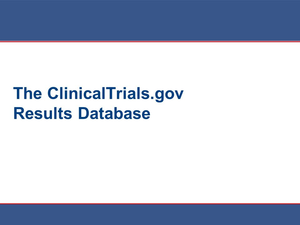 The ClinicalTrials.gov Results Database