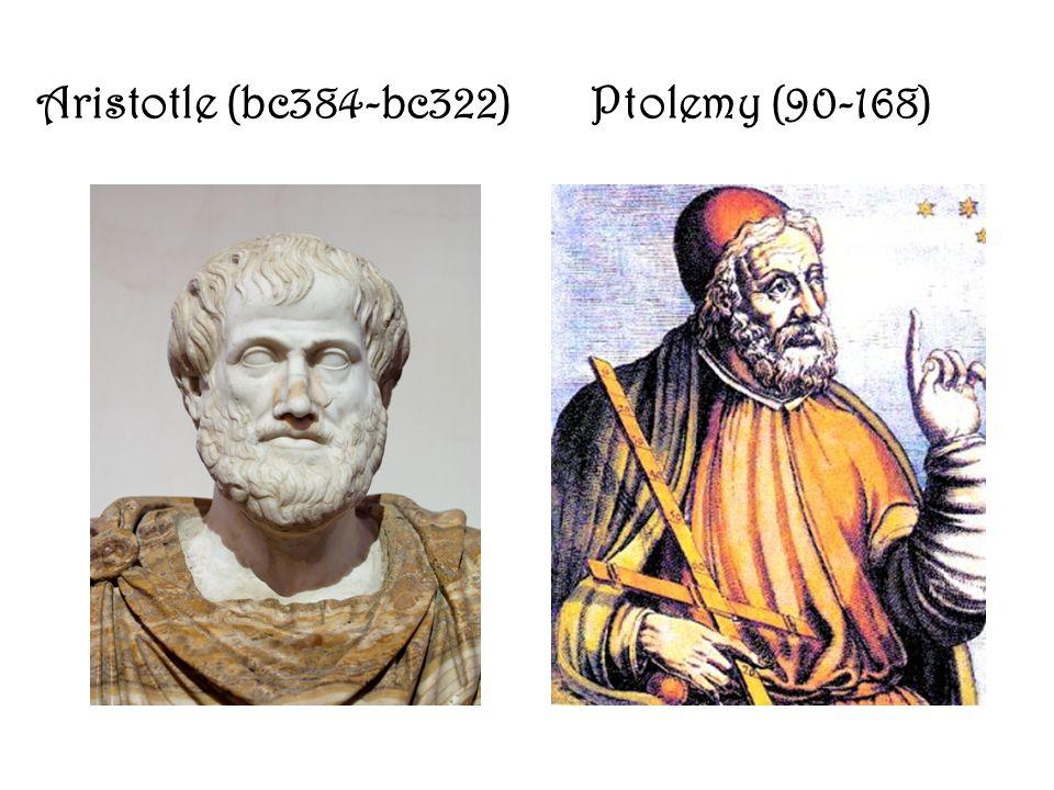 Aristotle (bc384-bc322) Ptolemy (90-168)