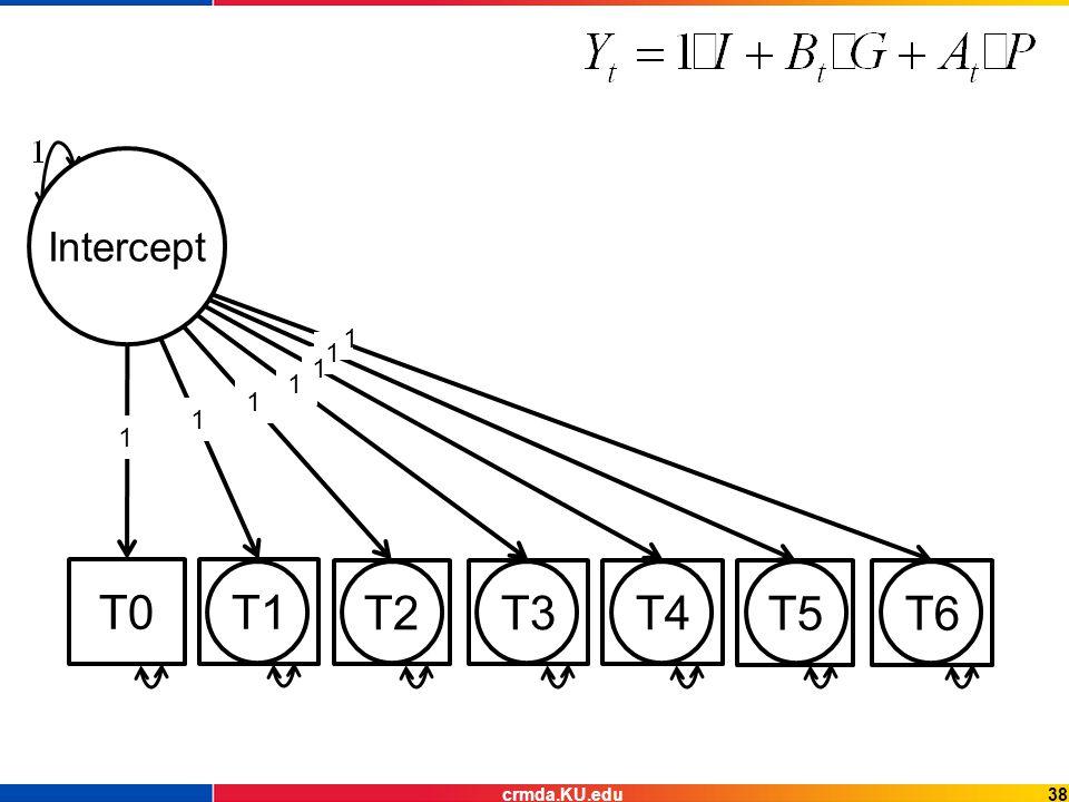 T0T1 T2T3T4 T5T6 Intercept 1 1 1 1 1 1 1 38crmda.KU.edu