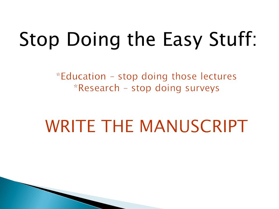 Stop Doing the Easy Stuff: