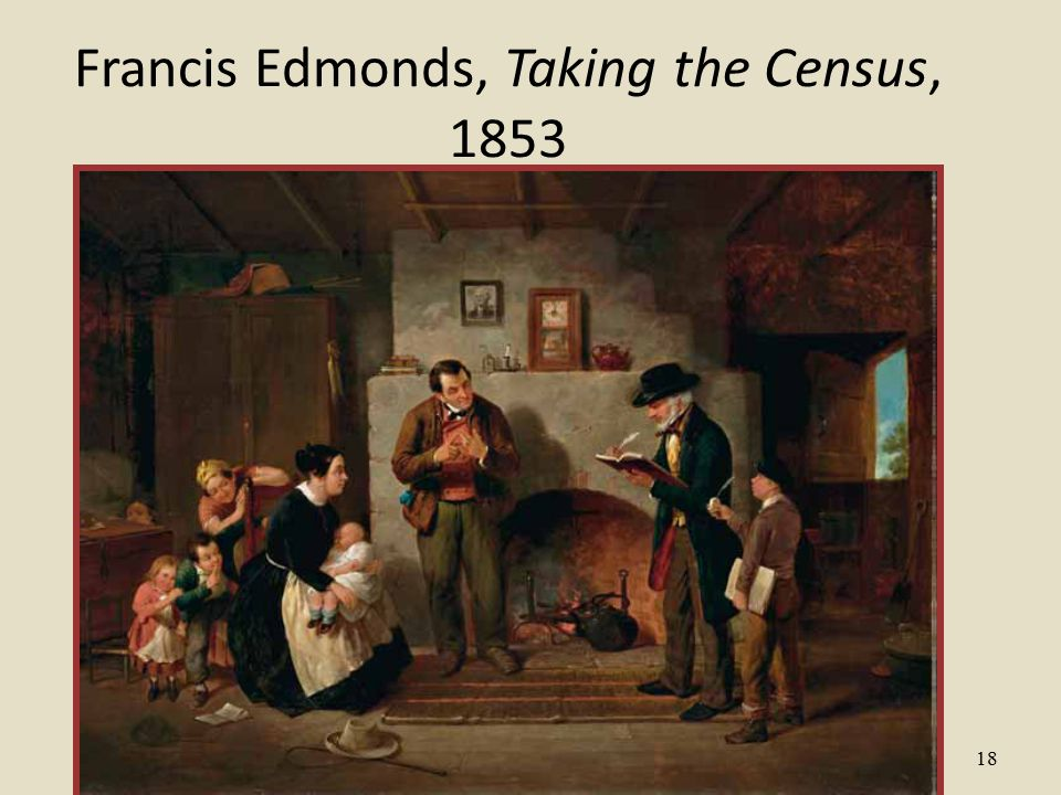 18 Francis Edmonds, Taking the Census, 1853