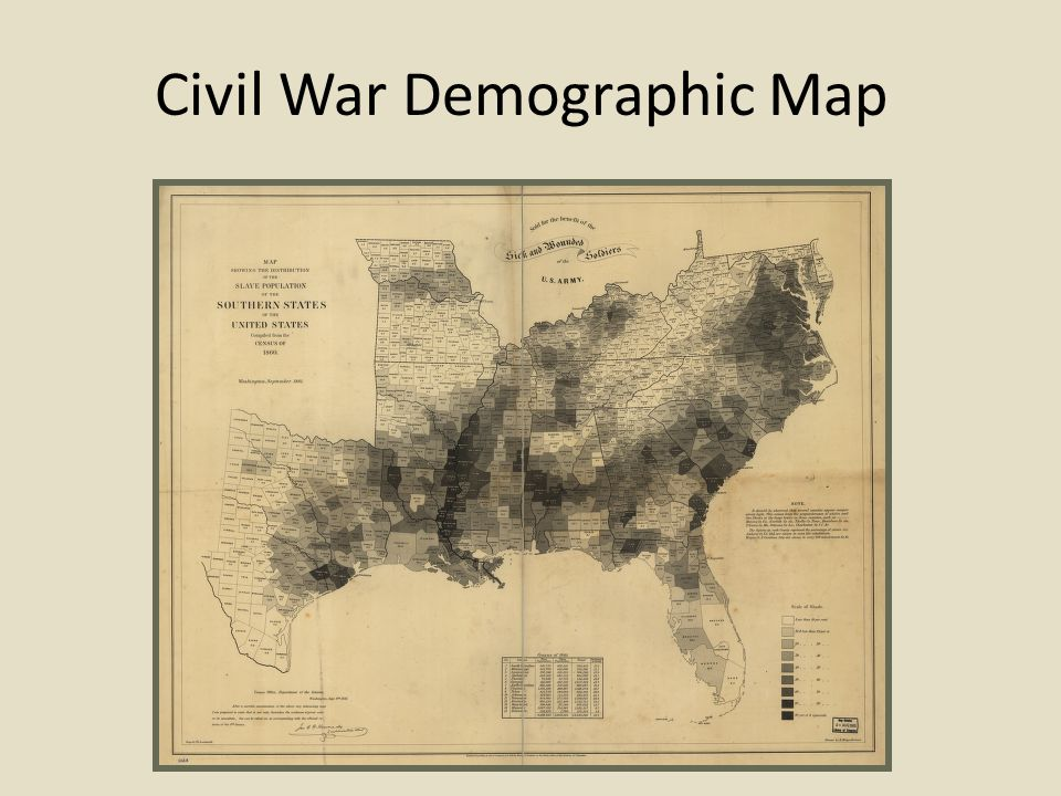 Civil War Demographic Map