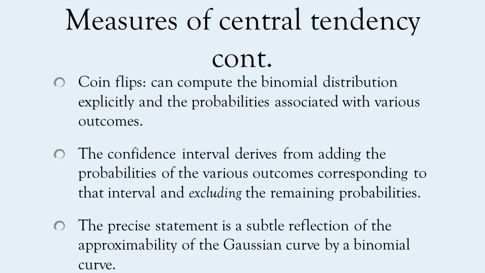Measures of central tendency cont.
