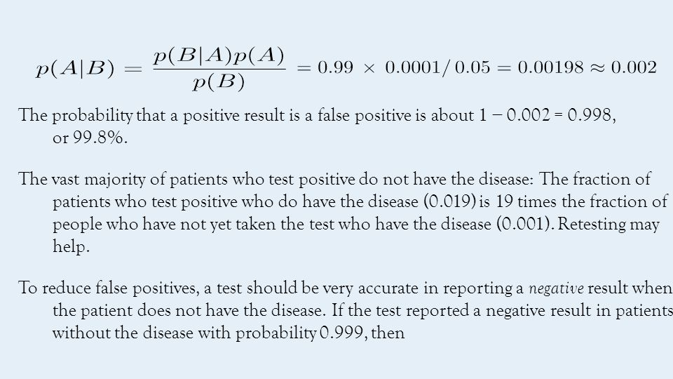  False negatives: a medical test for a disease may return a negative result indicating that patient does not have a disease even though the patient actually has the disease.