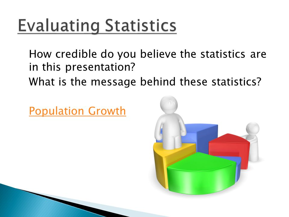 How credible do you believe the statistics are in this presentation.