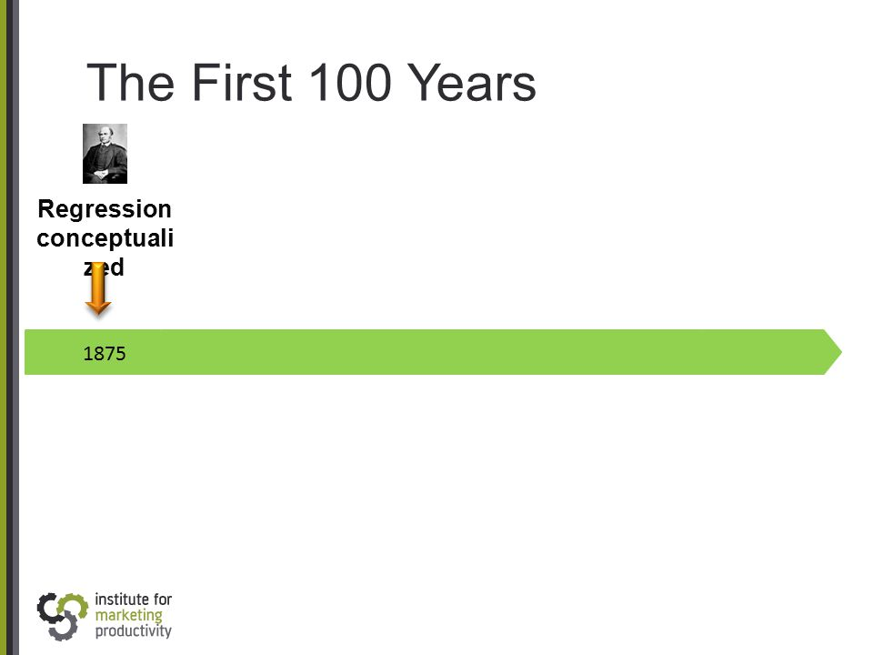 The First 100 Years 1875 Regression conceptuali zed