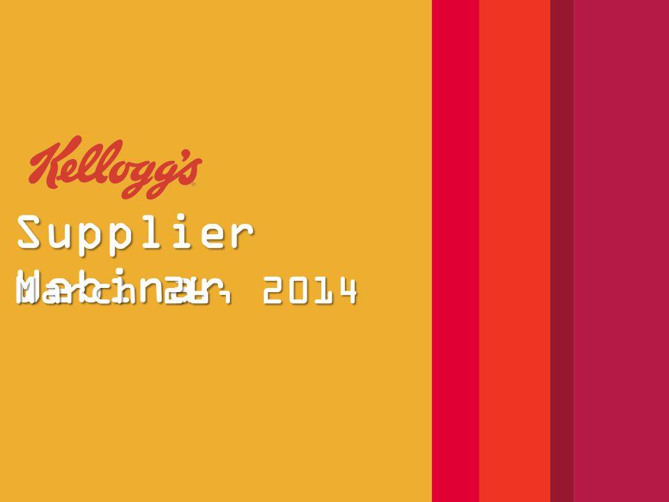 Supplier Webinar March 26, 2014