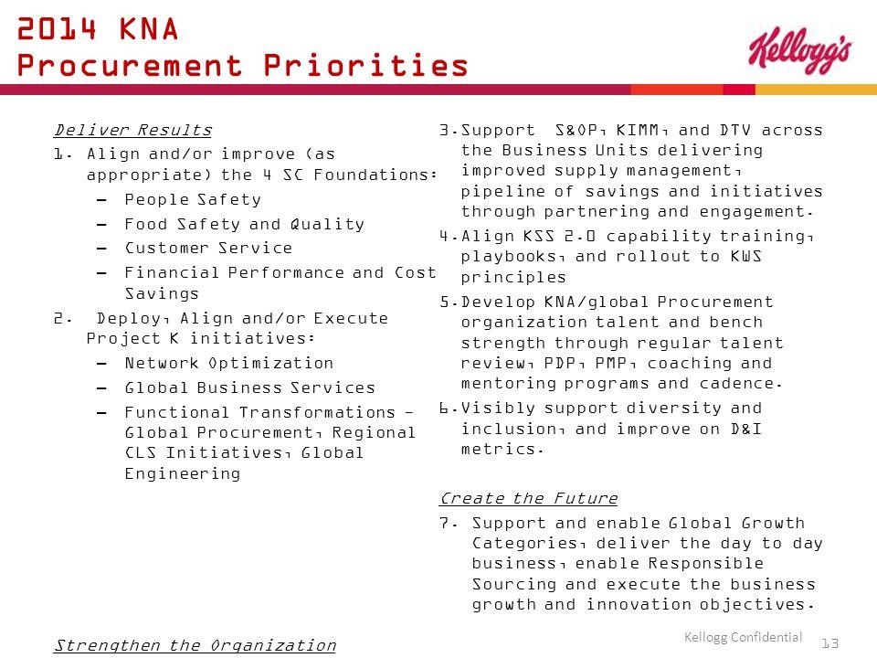 2014 KNA Procurement Priorities Deliver Results 1.