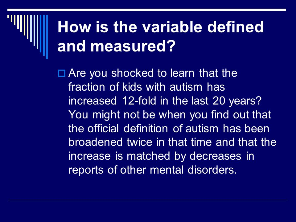 How is the variable defined and measured.