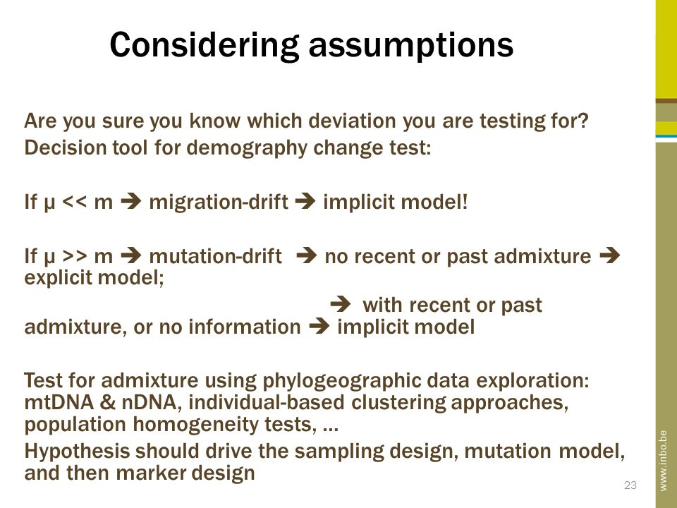 Considering assumptions Are you sure you know which deviation you are testing for.