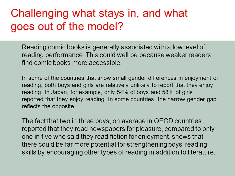 Reading comic books is generally associated with a low level of reading performance.