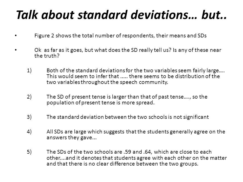 Talk about standard deviations… but..