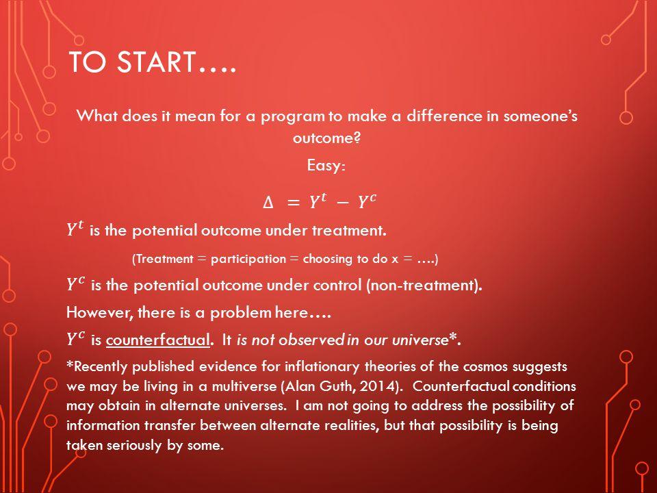 TO START….