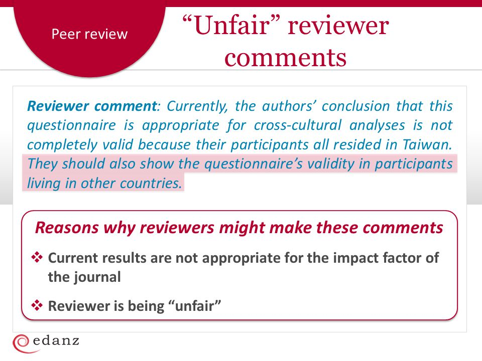 Peer review Reviewer comment: Currently, the authors' conclusion that this questionnaire is appropriate for cross-cultural analyses is not completely