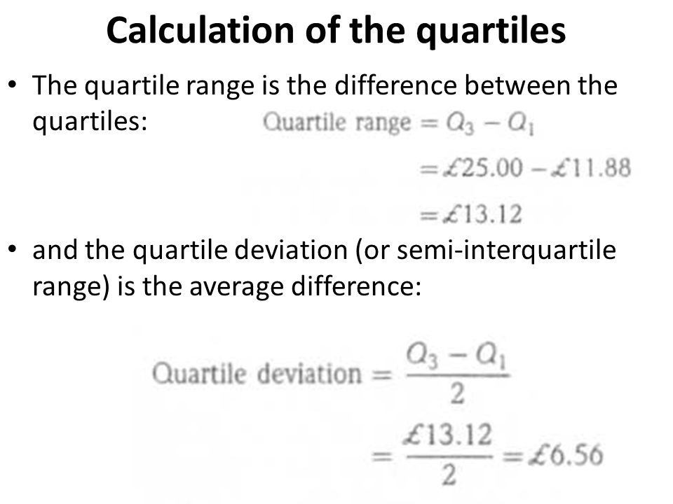 As with the range, the quartile deviation may be misleading.