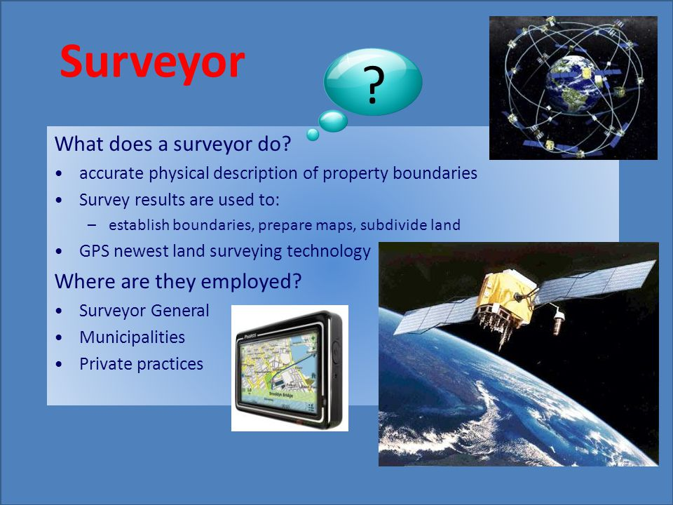 What does a surveyor do.