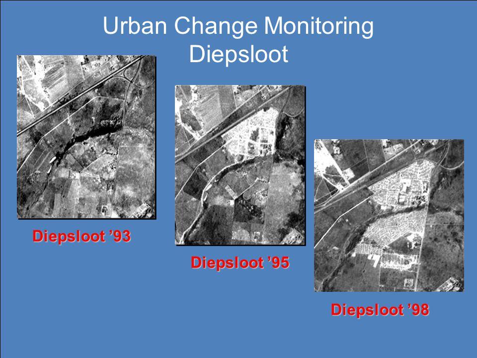 Diepsloot '93 Diepsloot '95 Diepsloot '98 Urban Change Monitoring Diepsloot