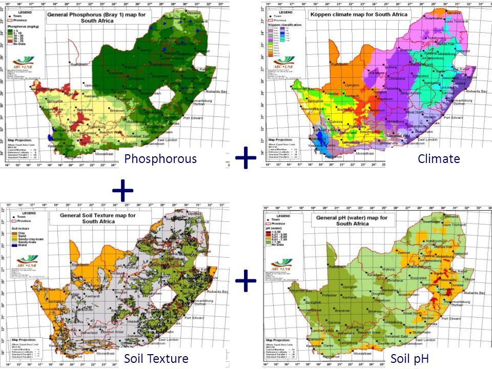 PhosphorousClimate Soil TextureSoil pH + + +