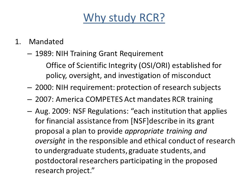 Academic Integrity con't Sabotage/appropriate the research of another Misuse research funds or university resources for personal use Develop inappropriate research/industry relationships for personal gain Fail to comply with federal and/or Rutgers guidelines for the treatment of human or animal subjects If you have questions about academic integrity, get them answered before jeopardizing your career.