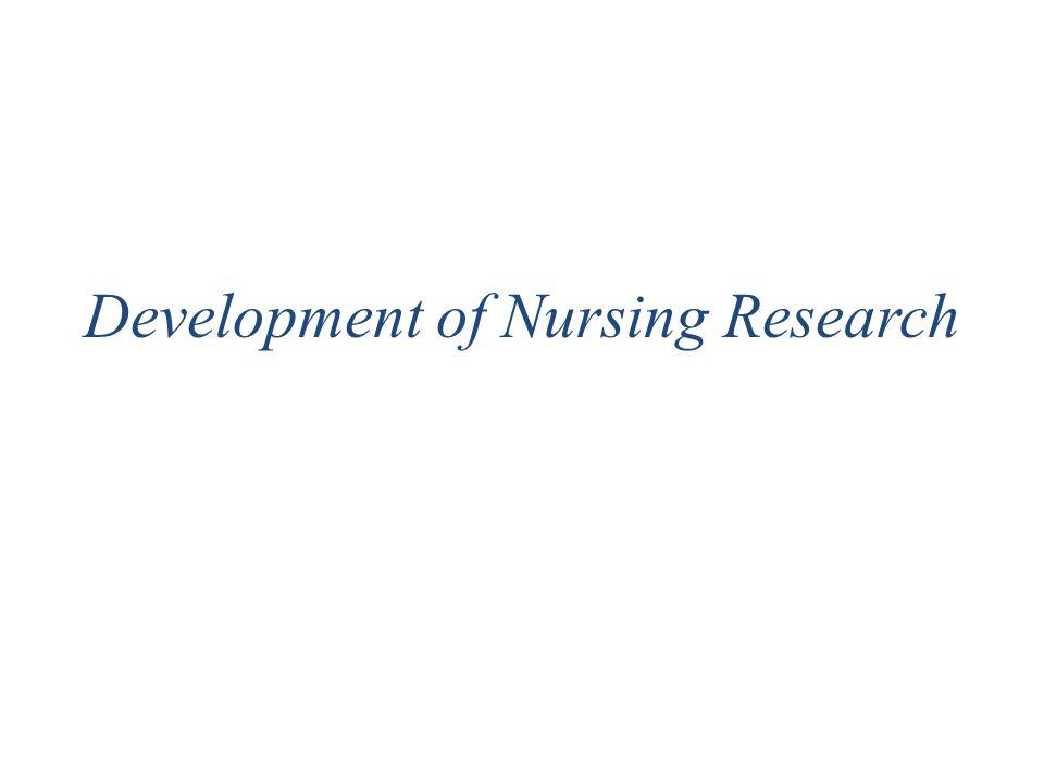 Development of Nursing Research