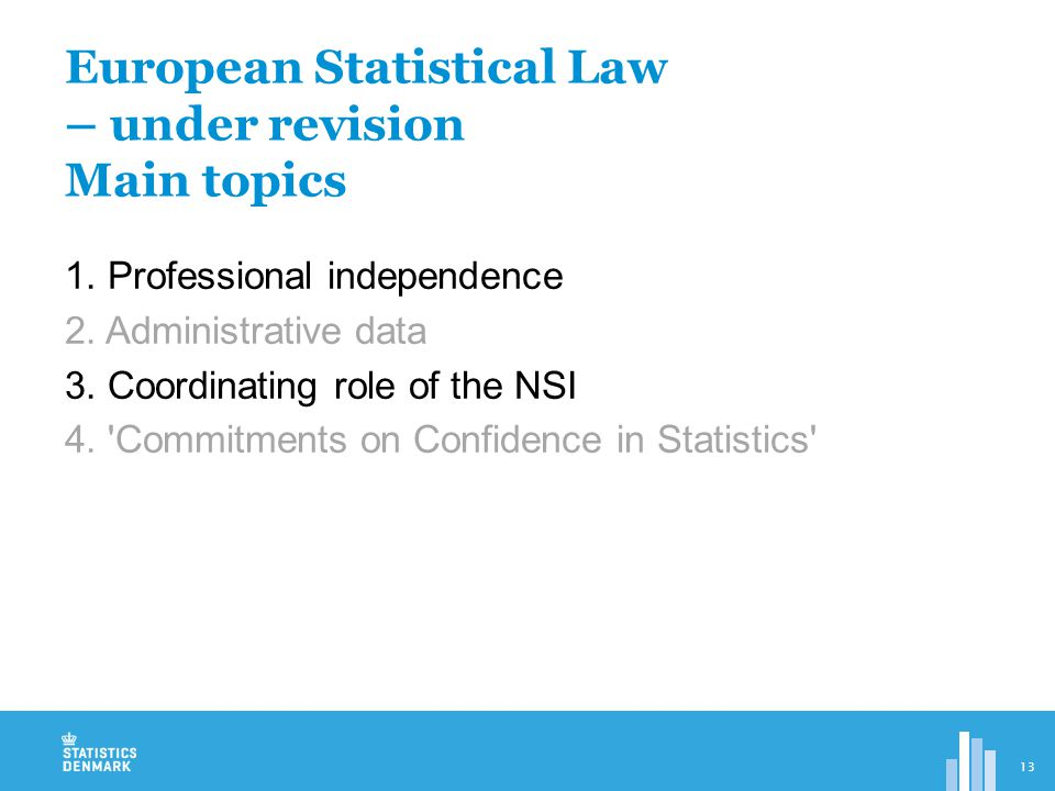 1. Professional independence 2. Administrative data 3.