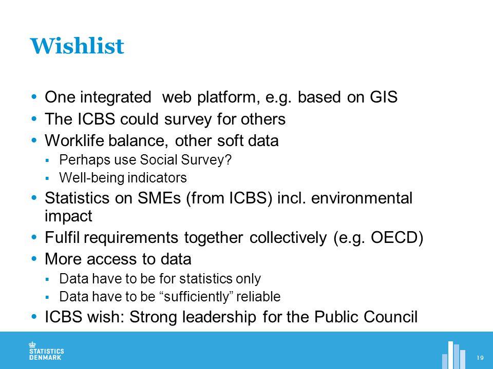  One integrated web platform, e.g.