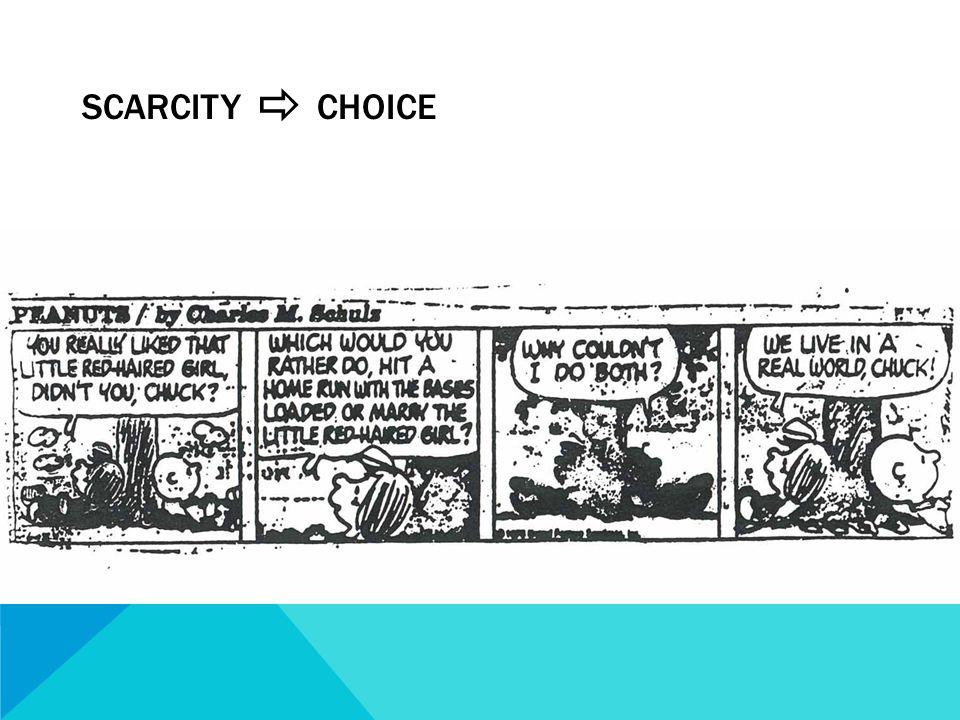 SCARCITY  CHOICE