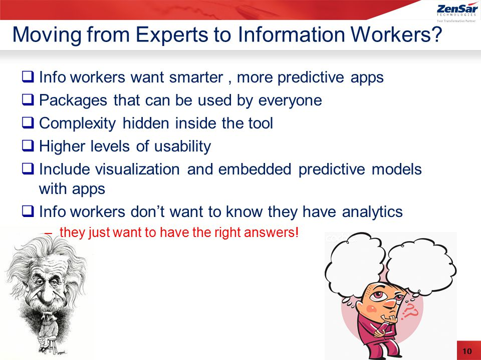 10 Moving from Experts to Information Workers.