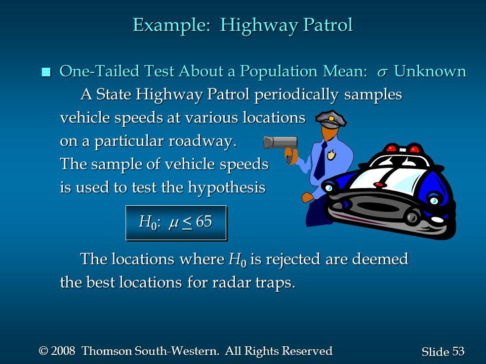 53 Slide © 2008 Thomson South-Western.