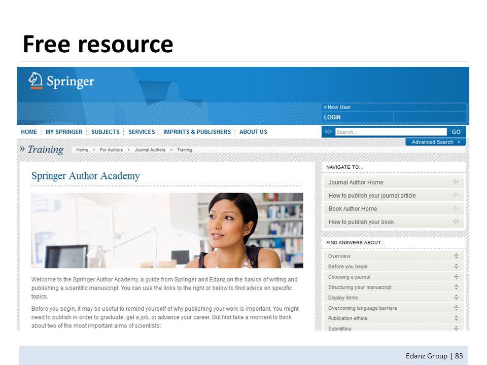 Free resource Edanz Group | 83