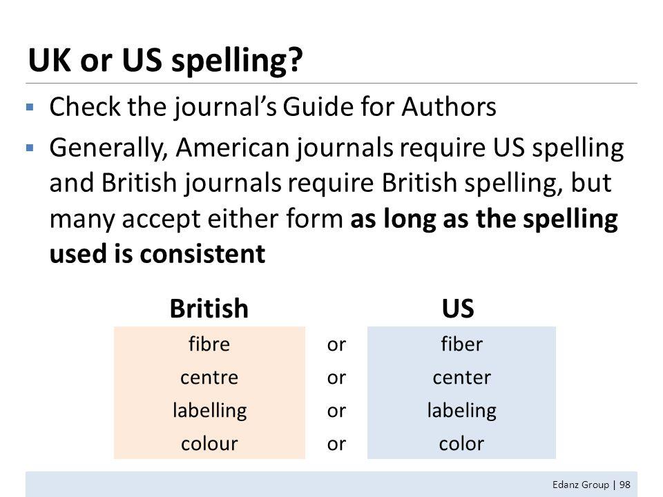 UK or US spelling.