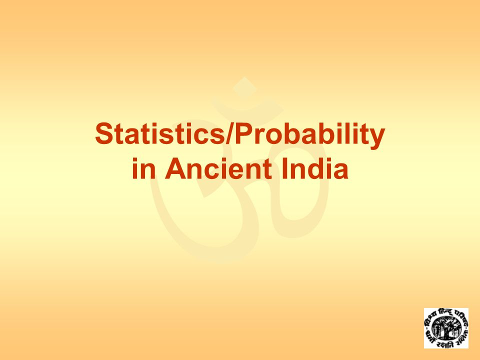  Statistics/Probability in Ancient India