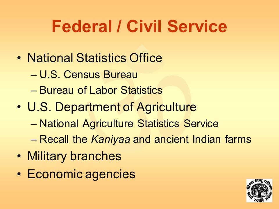  Federal / Civil Service National Statistics Office –U.S.