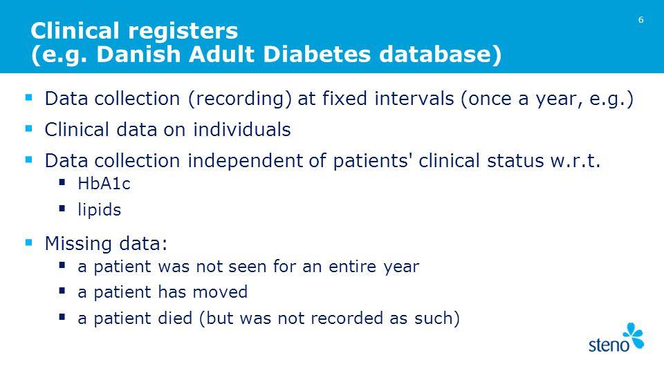 Clinical registers (e.g.